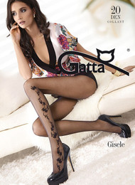 GATTA Gisele 09 Flower Pattern Tights 20 Den