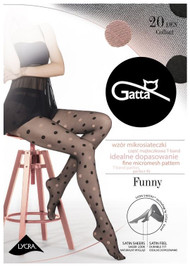 Funny 07A  Polka Dots P atterned Tights 20 Den