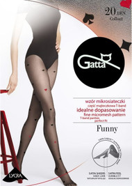 GATTA Funny 09A Playing Cards Paterrn Tights 20 Den