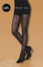 GATTA Wild Cat 01 Leopard  Patterned Tights