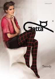 GATTA Tweedy 02 Opaque Red Pattern Tights 40 Den