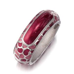 Raspberry Sorbet Hinged Bangle Bracelet