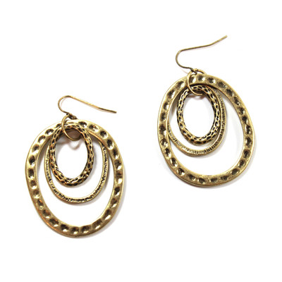 Tunnel of Love Earrings in Gold