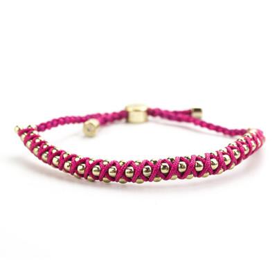 BFF Pink Cord Bracelet