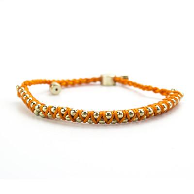 BFF Orange Cord Bracelet