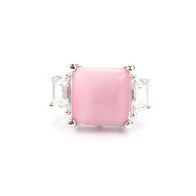 Laura Pink Cat's Eye Ring