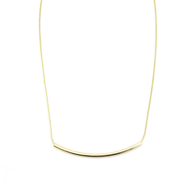 Gold Groove Necklace in Large