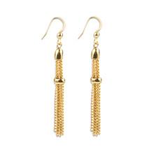 Mira Gold Tassel Earrings