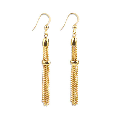 Mira Gold Tassel Earrings