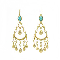 Casablanca Turquoise Bead Earrings