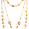 Mother's Pearls Womens Three Strand Convertable Necklace