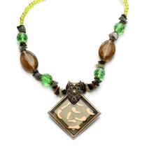 Green Goddess Statement Necklace