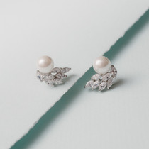 Carissa Glass Pearl and Austrian Crystal Earrings