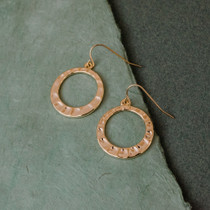 Round Trip Gold Hoop Earrings