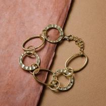 Round Trip Gold link Bracelet