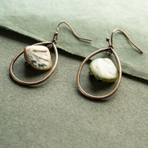 Evergreen Mist Genuine Mother of Pearl Earrings