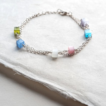 Rock Candy Pastel Tiger Eye Bracelet