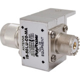 PolyPhaser Bulkhead Arrestor  UHF Male - UHF Female