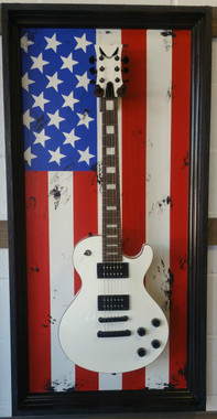 Guitar Display Case, Shadow box, Guitar mount, Guitar wall hanger, Guitar holder, JeLis Decor, DisplayMyGuitar.com G-Frame, G-Frames , Guitar art, Guitar decor, Gibson, Fender, Les Paul, Stratocaster, Bass, Crate, Martin, Taylor, peavey, ESP, washburn, paul reed smith, Takamine, yamaha, ibanez, Guitar Case, Guitar mount, Guitar stand, Guitar holder Gibson, Fender, Les Paul, Stratocaster, Bass, Crate, Martin, Taylor, peavey, ESP, washburn, paul reed smith, Takamine, yamaha, ibanez, Guitar Case, Guitar mount, Guitar stand, Guitar holder American Flag, American flag guitar, USA guitar, USA flag All American G-Frame, American Flag, American Flag guitar , American Flag decor