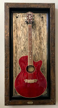 "G Frames ""Wizard Wood Gold"" Guitar or Bass Display Case"