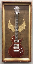 Guitar Display Case, Shadow box, Guitar mount, Guitar wall hanger, Guitar holder, JeLis Decor, DisplayMyGuitar.com