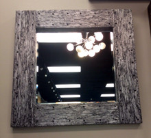 Square Silver wizard wood Mirror