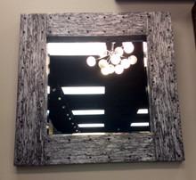 Square Silver wizard wood Mirror