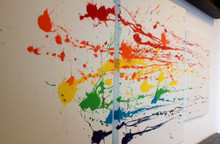 Rainbow Painting, Abstract Rainbow, Splatter Painting, Modern art,