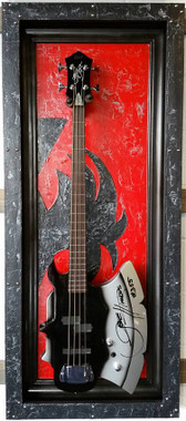 Guitar Display Case, Shadow box, Guitar mount, Guitar wall hanger, Guitar holder, JeLis Decor, DisplayMyGuitar.com G-Frame, G-Frames , Guitar art, Guitar decor, Gibson, Fender, Les Paul, Stratocaster, Bass, Crate, Martin, Taylor, peavey, ESP, washburn, paul reed smith, Takamine, yamaha, ibanez, Guitar Case, Guitar mount, Guitar stand, Guitar holder Gibson, Fender, Les Paul, Stratocaster, Bass, Crate, Martin, Taylor, peavey, ESP, washburn, paul reed smith, Takamine, yamaha, ibanez, Guitar Case, Guitar mount, Guitar stand, Guitar holder  Demon G-Frame, Gene Simmons axe bass, axe bass, KISS bass, KISS Fans,