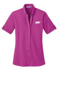 Women's Stretch Pique Buttoned Shirt