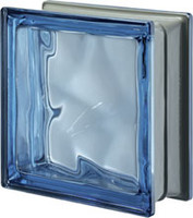Pegasus Metalized Blue Glass Block
