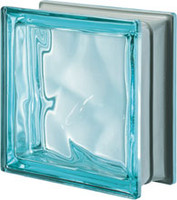Pegasus Metalized Aquamarine Glass Block