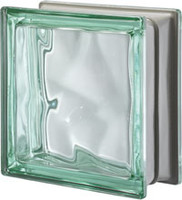 Pegasus Metalized Green Glass Block