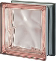 Pegasus Metalized Pink Glass Block