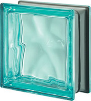 Pegasus Metalized Turquoise Glass Block