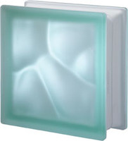 Pegasus Green Q19 Satin Glass Block