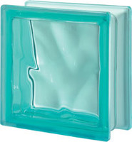 Pegasus Turquoise Q19 Wavy Glass Block