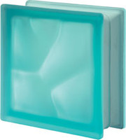 Pegasus Turquoise Q19 Satin Glass Block