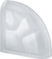 Pegasus Neutro End Curved Satin Glass Block