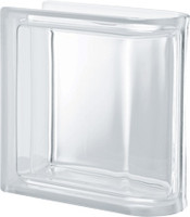 Pegasus Neutro End Linear Transparent Glass Block