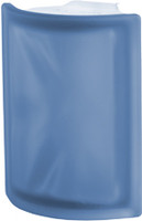 Pegasus Blue Corner Satin Glass Block