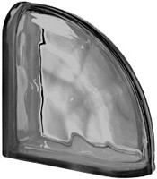 Pegasus Nordica End Curved Wavy Glass Block