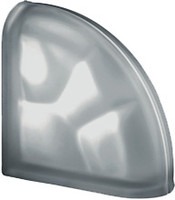Pegasus Nordica End Curved Satin Glass Block