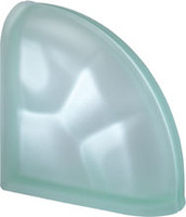 Pegasus Green End Curved Satin Glass Block