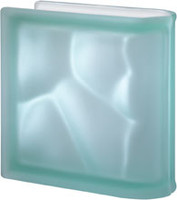 Pegasus Green End Linear Satin Glass Block