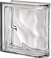 Pegasus Metalized Neutro End Linear Wavy Glass Block