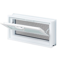 Glass Block Vent (For Standard Imperial American Size Block Only)
