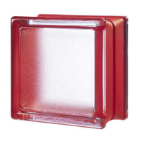 MyMINIGLASS Cherry Crackled Glass Block (6-Pack)