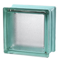 MyMINIGLASS Mint Crackled Glass Block