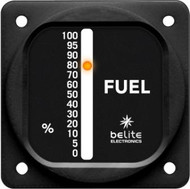 "Universal Single Display LED Fuel Gauge with 2.25"" round bezel"